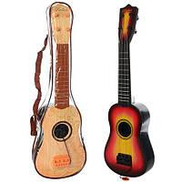 Гитара B6074 (48шт) струны 4шт, медиатор, 2вида, в сумке, 54-17,5-6см