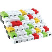 Вечный календарь палз Lego белый