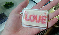 """Прямоугольное мыло с картинкой """"Любовь"""", 75 г"""