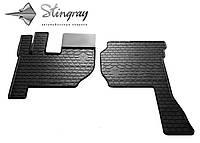 Резиновые коврики Stingray Стингрей  Вольво ФН 2002- Комплект из 2-х ковриков Черный в салон