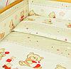 Набор постельного белья в детскую кроватку из 6 предметов Мишка с кубиками бежевый