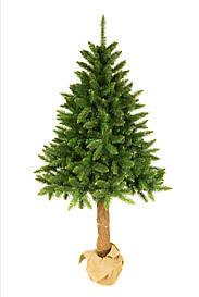 Штучна новорічна ялинка на натуральному стовбурі 220 см + гірлянда у подарунок