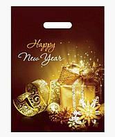 Пакет новогодний с врезной ручкой, 40х30 см / Подарки
