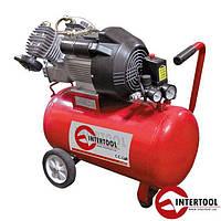 Компрессор 50л, 4HP, 3кВт, 220В, 8атм, 420л/мин, 2 цилиндр. (PT-0007)