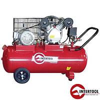 Компрессор 100л, 4HP, 3кВт, 380В, 8атм, 500л/мин, 2 цилиндра (PT-0013)