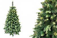 """Сосна """"Зеленая"""" на пластиковой подставке + гирлянда в подарок 220 см + гирлянда в подарок"""