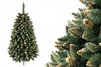 """Сосна """"Золотая гора"""" на пластиковой подставке + гирлянда в подарок 220 см + гирлянда в подарок"""
