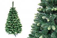 """Сосна """"Кавказская зеленая"""" на пластиковой подставке + гирлянда в подарок 220 см + гирлянда в подарок"""