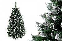 """Сосна """"Серебряная гора"""" на пластиковой подставке + гирлянда в подарок 180 см + гирлянда в подарок"""
