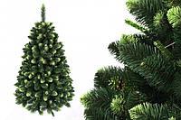"""Сосна """"Сибирская зеленая"""" на пластиковой подставке + гирлянда в подарок 250 см + гирлянда в подарок"""