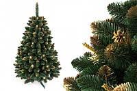 """Сосна """"Сибирская золотая"""" на пластиковой подставке + гирлянда в подарок 220 см + гирлянда в подарок"""
