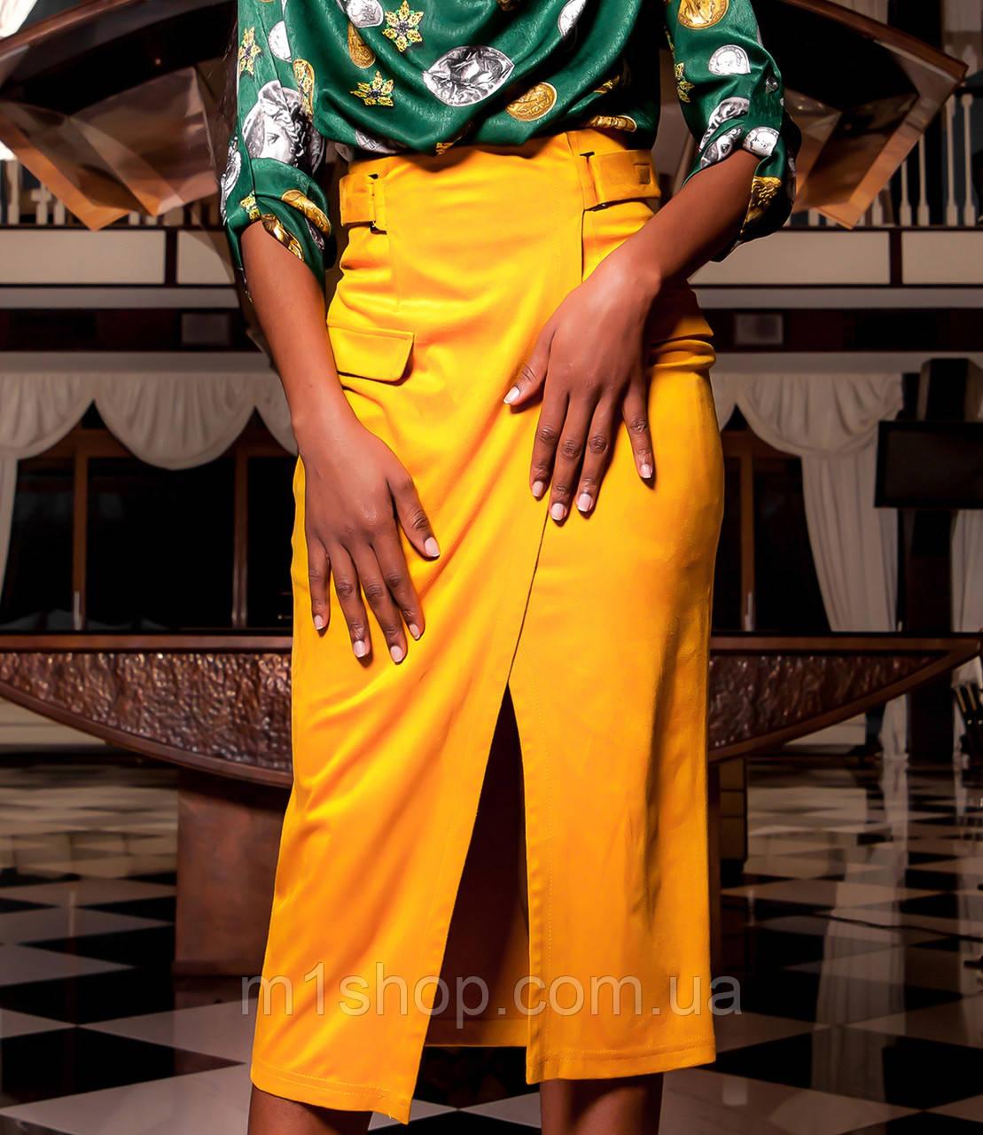Женская замшевая юбка миди (Дарси jd)