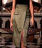 Женская замшевая юбка миди (Дарси jd), фото 3