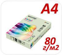 Цветная бумага пастель Maestro Color 27 light green А4 80г/м2