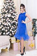 Нарядное платье с фатином (синее, красное)