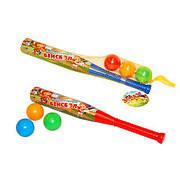Бейсбол, в сетке 56*9*6см, (20шт), ТМ M-toys