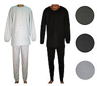 Пижама мужская трикотажная для сна 03202-1, хлопок с начесом,  р.р.46-60