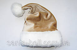 Новорічна Шапка Доросла Золота Діда Мороза Ковпак Санта Клауса Santa Claus
