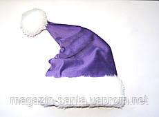 Новорічна шапка Діда Мороза Бузкова Ковпак Санта Клауса Santa Claus для Дорослих