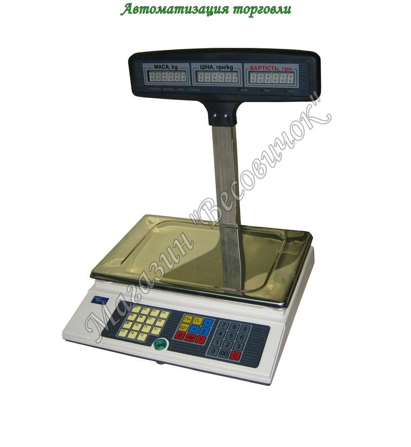 Весы для торговли с аккумулятором ВТА-60/30-5-Т-А (15 кг)