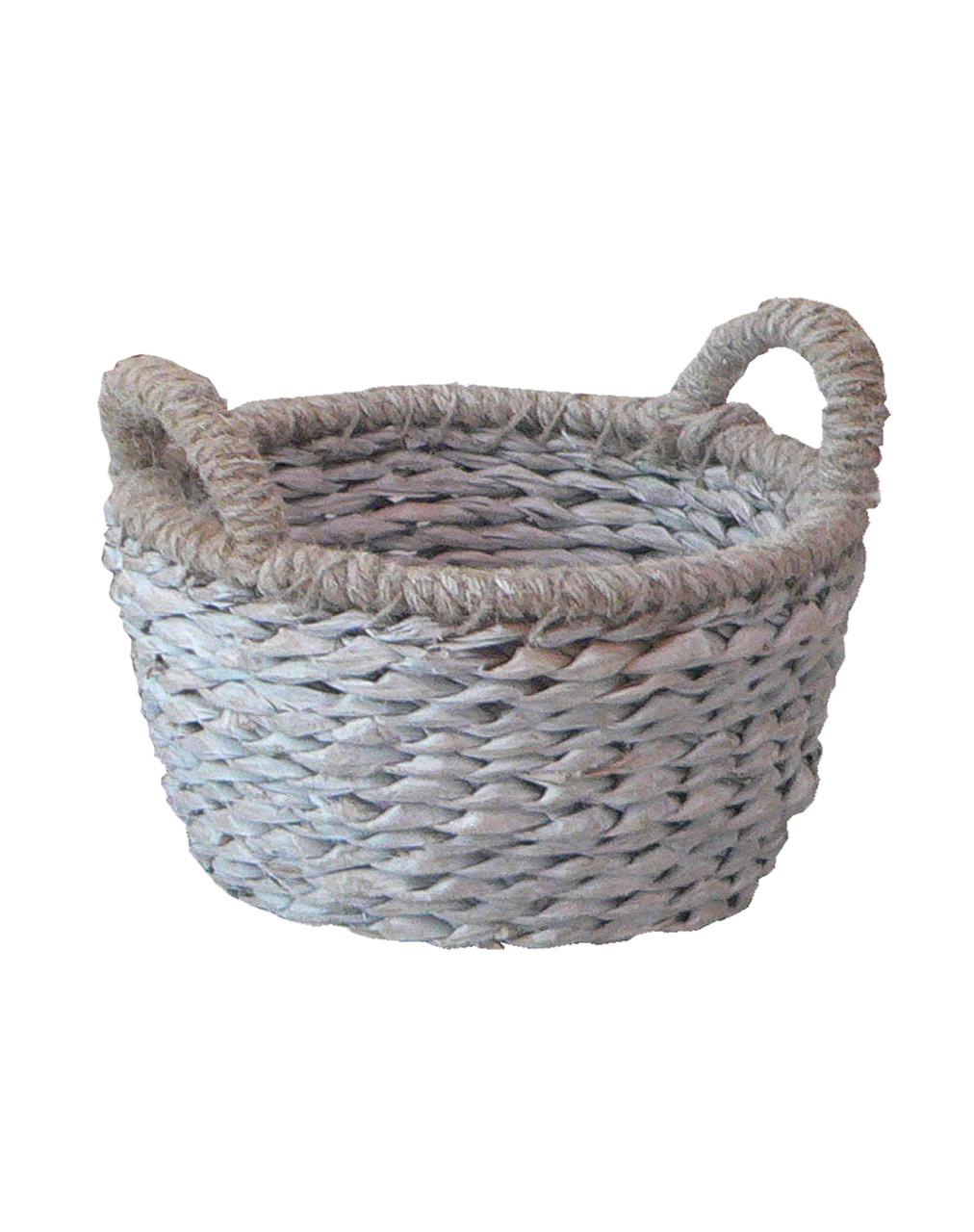 Корзина плетенная круглая L  39x29