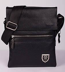 Новинка! Кожаная мужская сумка Philipp Plein 24*18см