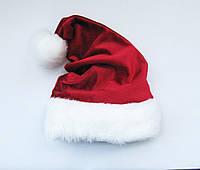 Новорічна шапка Діда Мороза Бордо Ковпак Санта Клауса Santa Claus для Дорослих