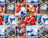 Бумага подарочная новогодняя, 70*100 см / Коллаж