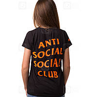 ASSC Undefeated Paranoid • Футболка женская черная • Фотки наши • Бирка Anti Social Social Club