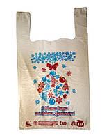 Пакет майка с рисунком ЭКО, 28х47 см / Новый год