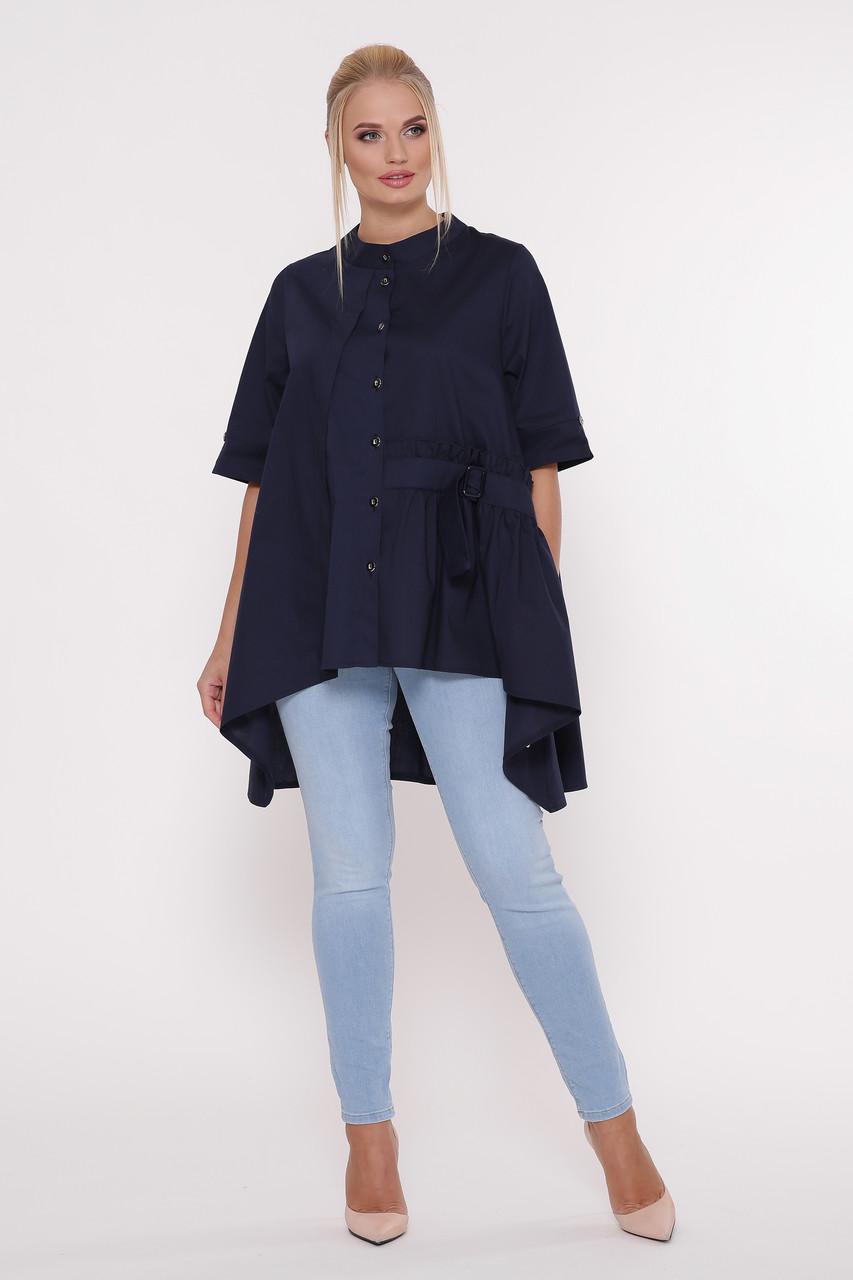 Рубашка женская Уля  синяя 54 Vlavi