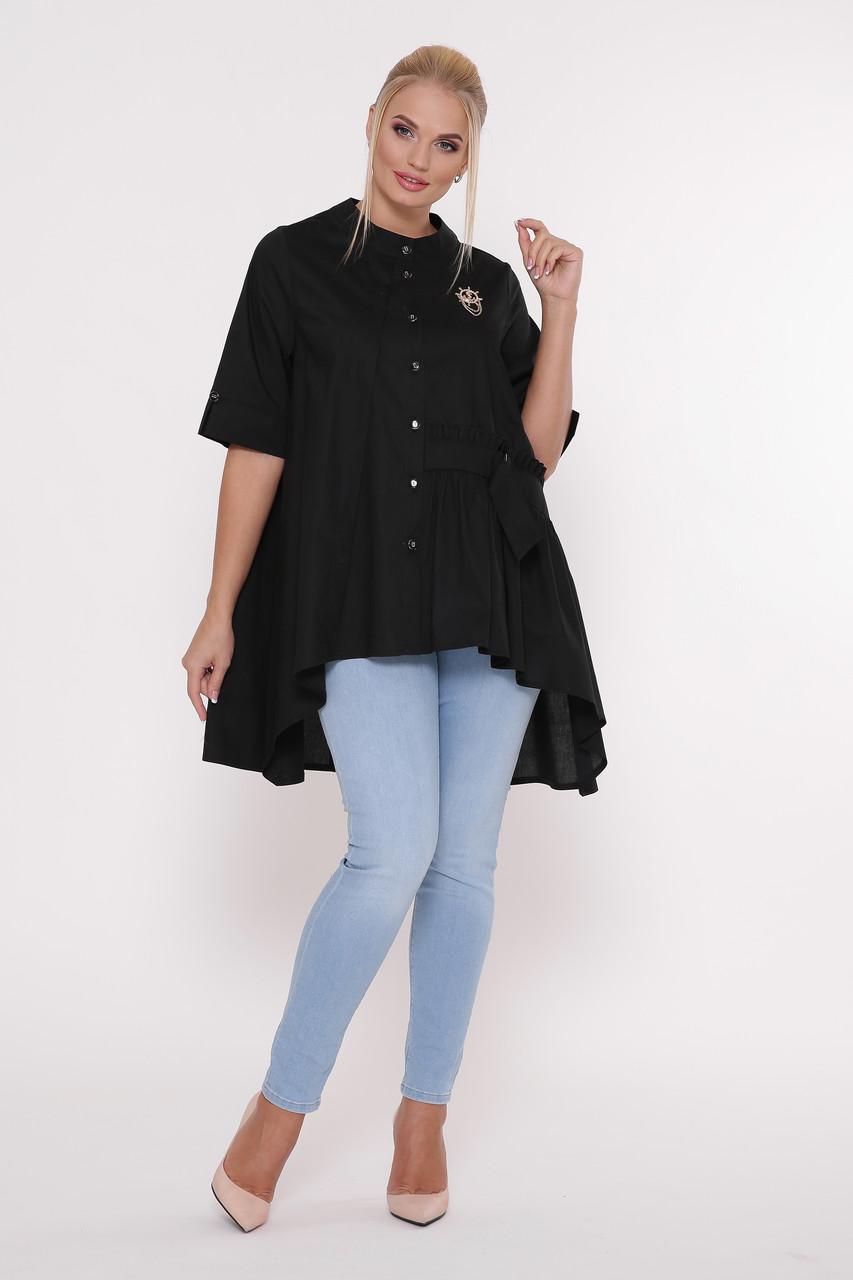 Рубашка женская Уля  черная Vlavi