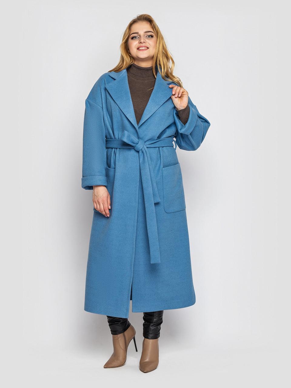 Пальто женское  свободного стиля Алеся деним Vlavi