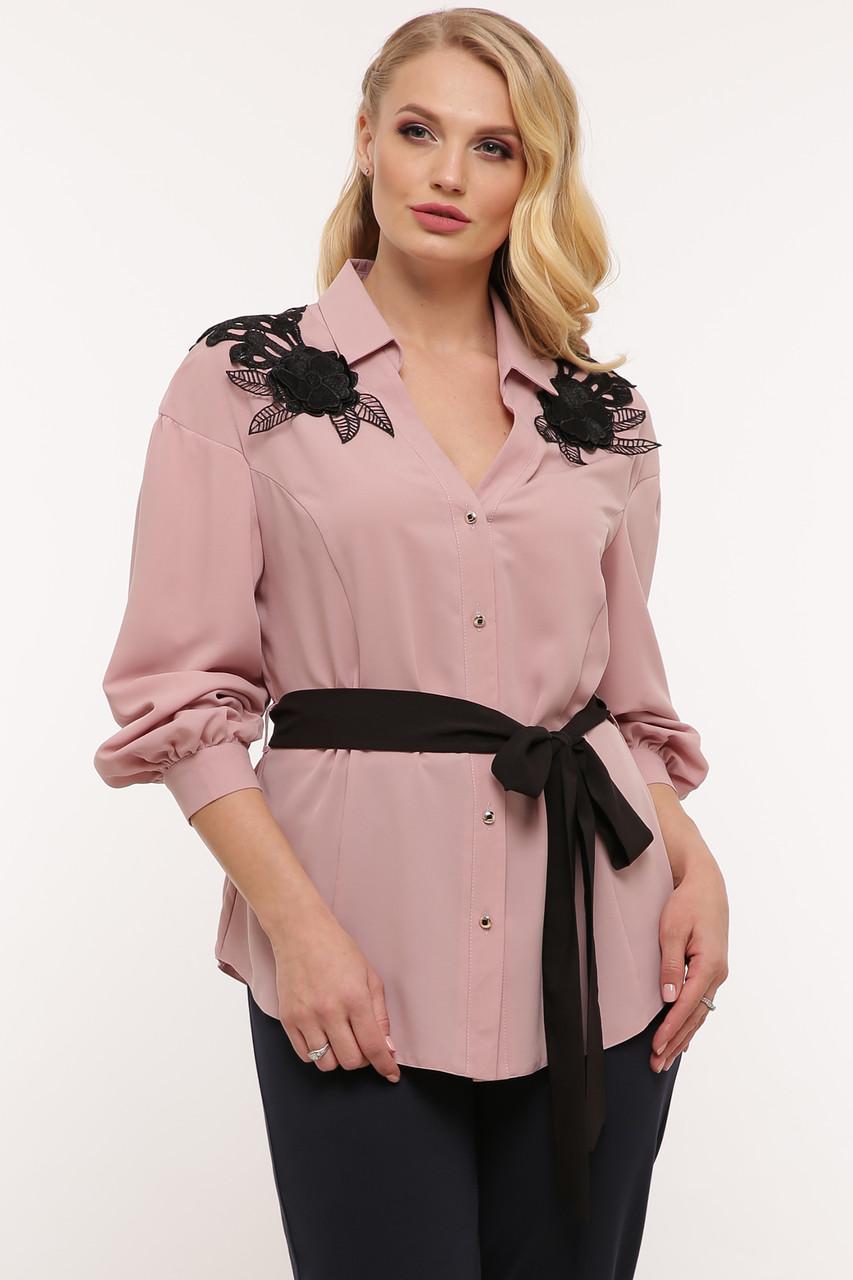 Блуза нарядная Франческа пудра Vlavi