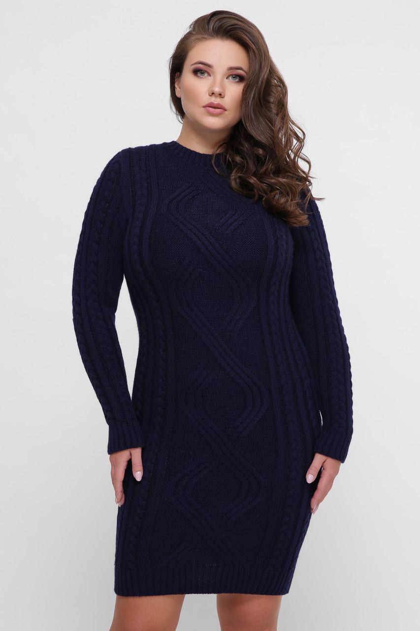 Платье орнамент синее Vlavi